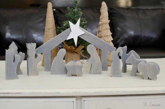 Wooden Nativity Tutorial at U Create