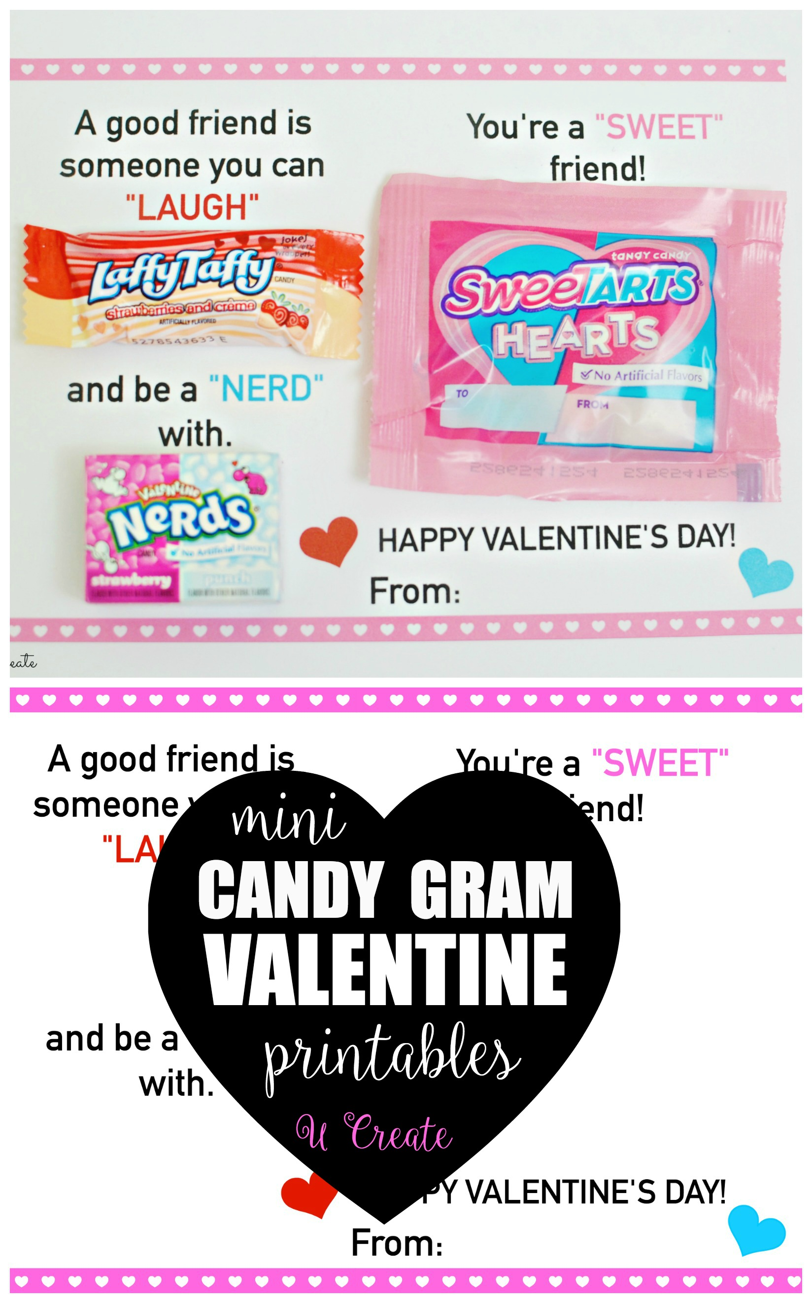 Mini Candy Gram Valentine Printables U Create