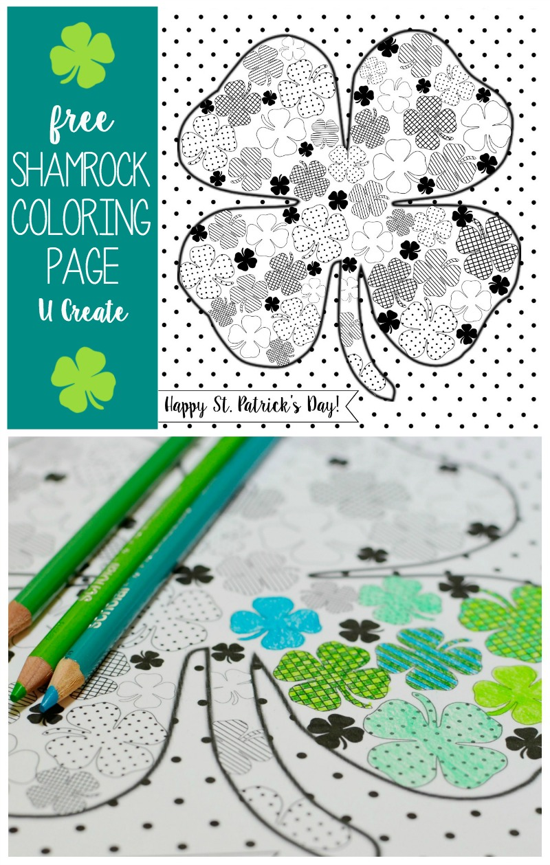 Shamrock Coloring Page by U Create