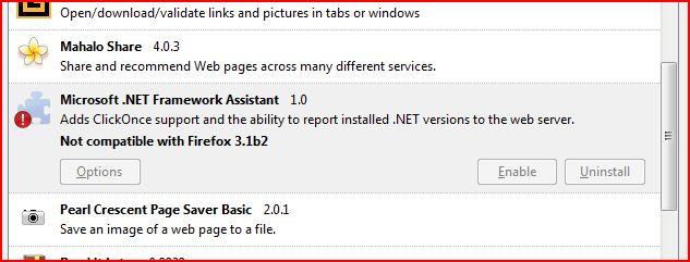 Microsoft  Net Framework 3 5 violates FireFox – Ugh!!'s Greymatter