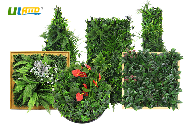 ULAND artificial plants wall frames
