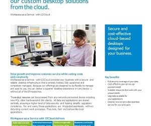 DATASHEET – DESKTOP-AS-A-SERVICE WITH U2CLOUD