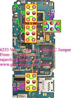 Nokia 6233 side keys not workingVolume and Camera Key