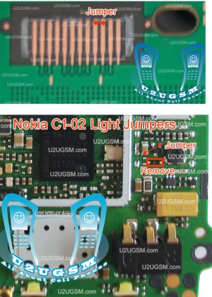All Cellular Mobile Repair Solution: nokia c102 light problem solution jumpers Tested 100%