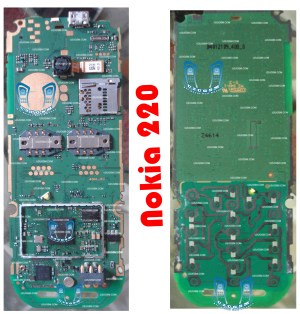 Nokia 220 Full PCB Diagram Mother Board Layout