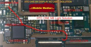 Htc one M8 LCD Display Light IC Solution Jumper Problem Ways