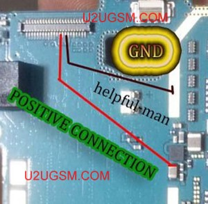 Samsung Galaxy Young 2 SMG130H LCD Display Light IC Solution Jumper Problem Ways