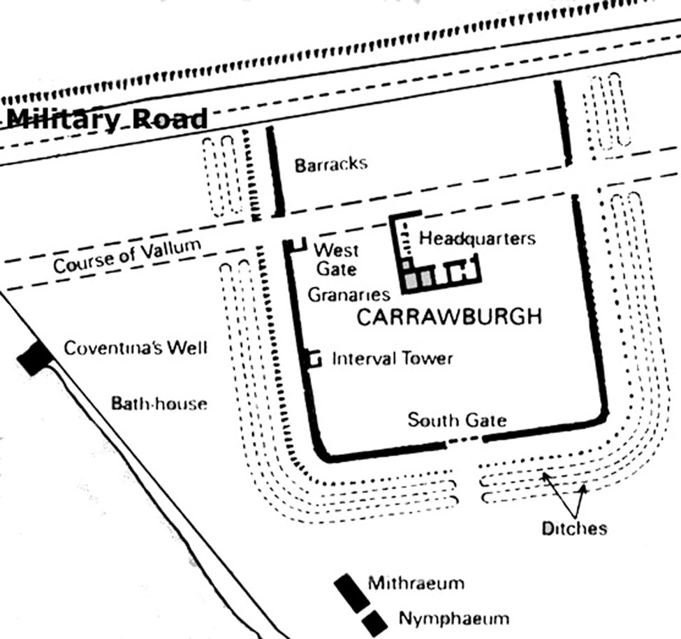 carrawburgh roman fort   brocolitia