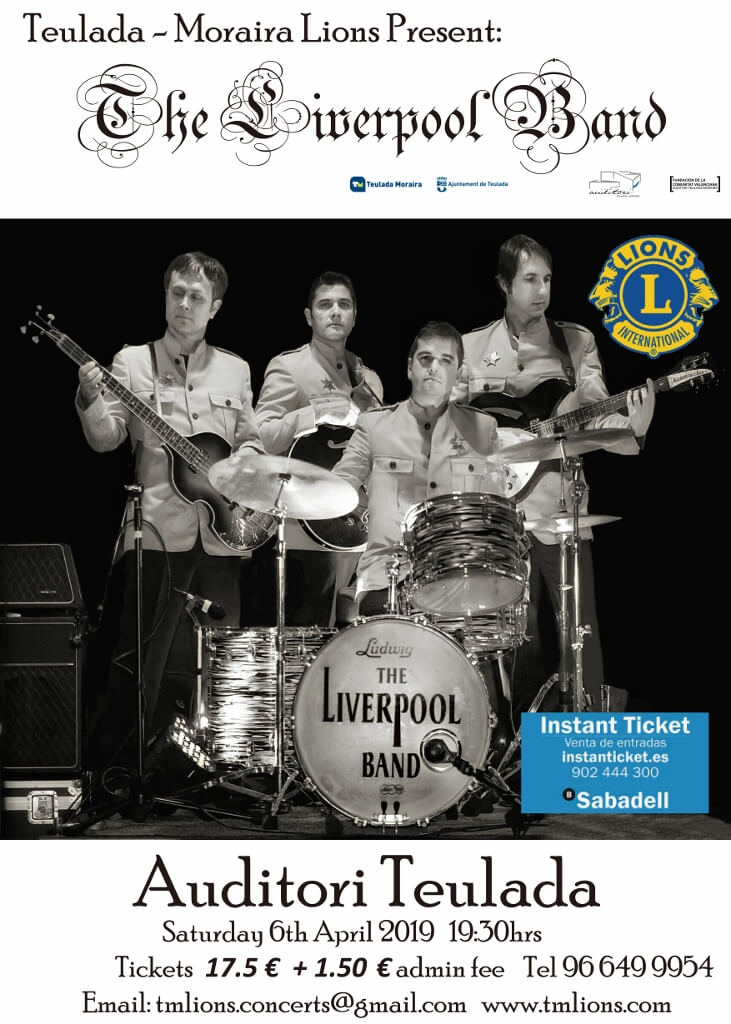Saturday, 6 April – TMLions present The Liverpool Band