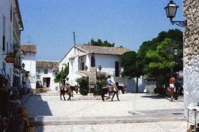 1982 Guadalest, donkey rides in the village