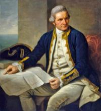 Captain James Cook(1728-1779). Nathaniel Dance
