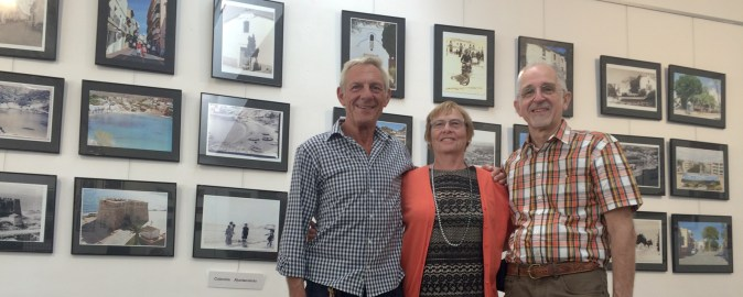 The Photo Group leader, Trevor Kemp, with Frieda Meurs and Robert Verbruggen, who organised the show on behalf of the group