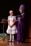 Dee Cain plays Alice, Jo Thompson, the Duchess