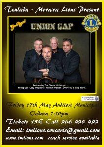 17 May - Ges Rogers' Union Gap @ Auditori Municipal Ondara