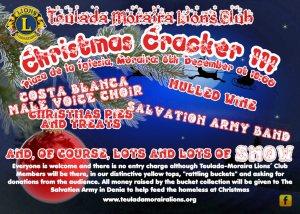 Teulada Moraira Lions Club presents Christmas Cracker III @ Plaza de la Iglesia