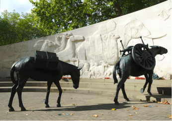 The Animals in War Memorial in Hyde Park London Designed by David Backhouse