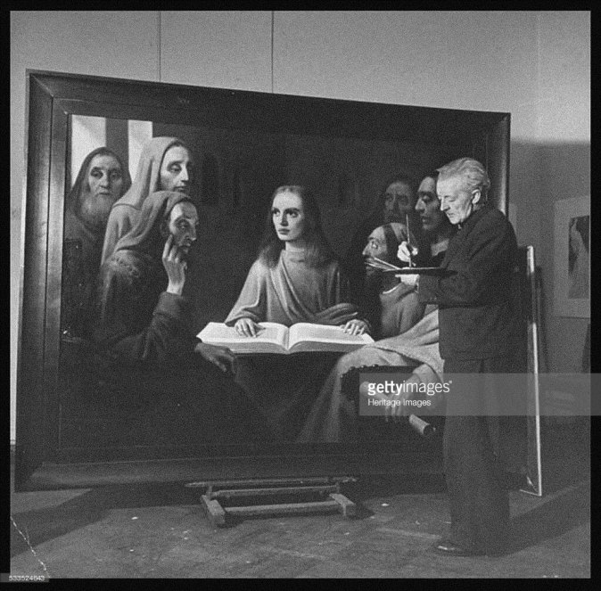 Art_30 - Meegeren painting Jesus Among the Doctors 1945