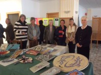 Display at U3A meeting with some of the artists