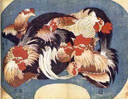 Hokusai -cockrels