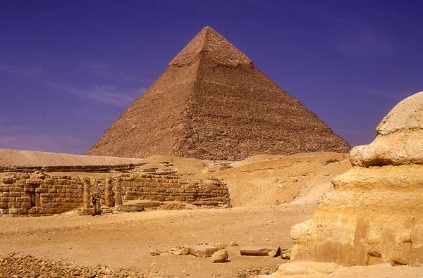 The Pyramid of Khafre at Giza.