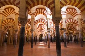 Arabic arches hallway in Cordoba