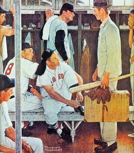 'The Rookie', Norman Rockwell, 1957