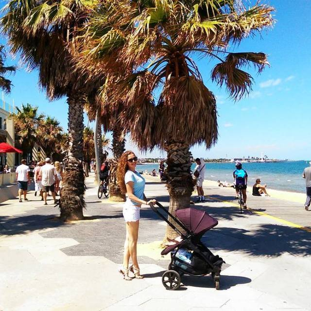 Walking along St Kilda beach with australianhousewife and a littlehellip
