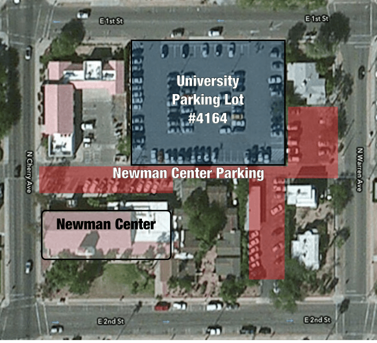 Location and Parking | St  Thomas More Catholic Newman Center