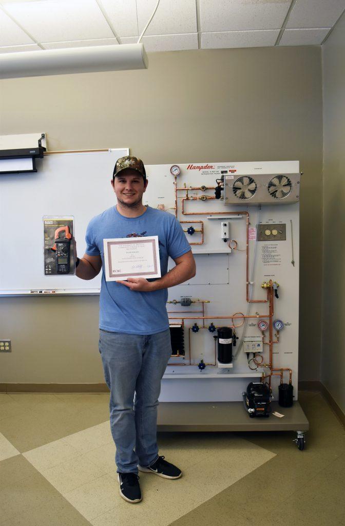 Tyler Phillips, University of Arkansas Hope-Texarkana Outstanding HVAC Student Spring 2019