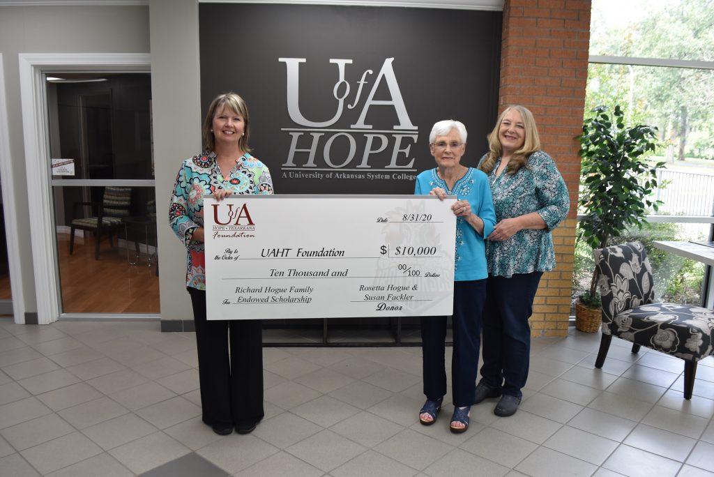 Richard Hogue Family Endowed Scholarship Established at UA Hope-Texarkana