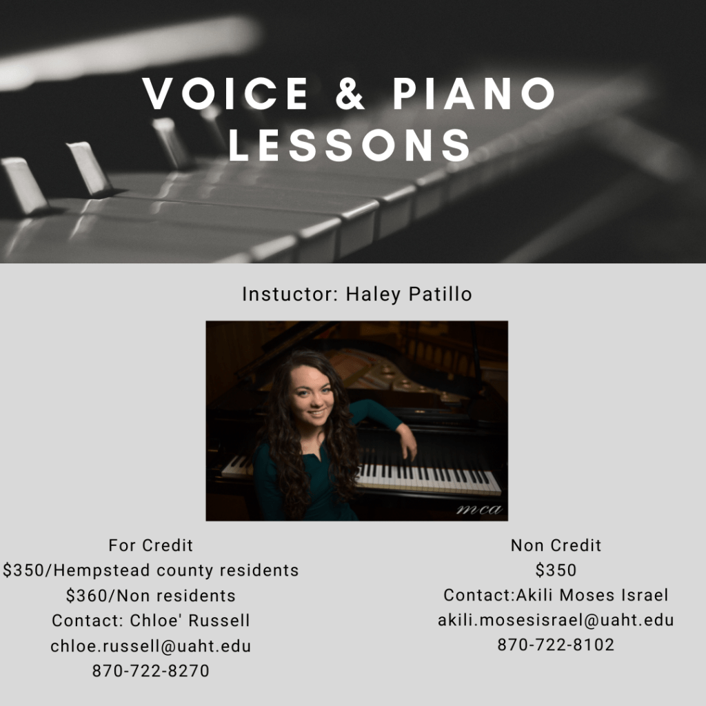 Voice & Piano Lessons at UAHT