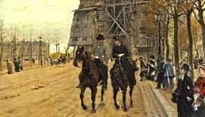 Giuseppe de Nittis, une balade le long de l'avenue des Champs-Elysées, 1874 (collection privée)