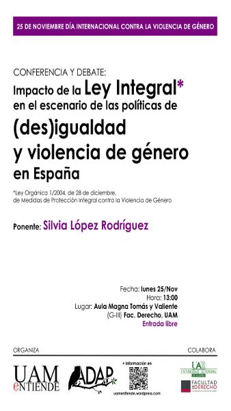 Cartel_Conferencia y debate_Violencia de Género desigualdades