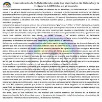 Comunicado de UAMentiende ante los antentados de Orlando