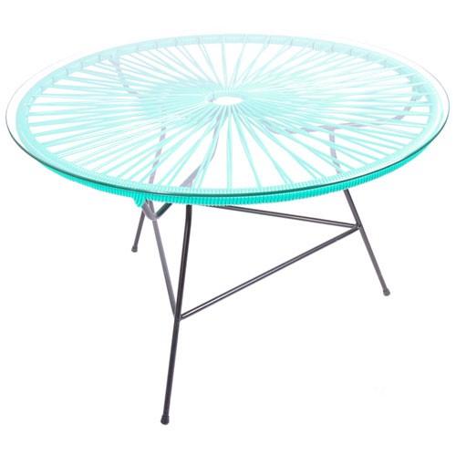 table basse zipolite vert turquoise de boqa