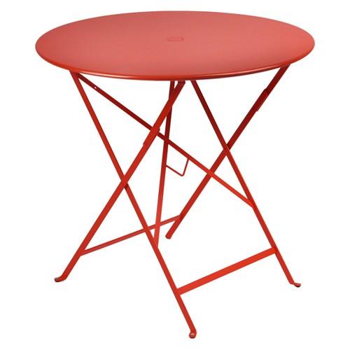 table pliante bistro 77cm coquelicot de fermob