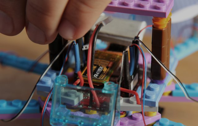 Flybrix LEGO drone assembly