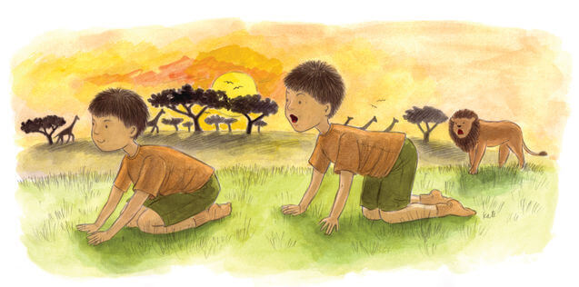 Yoga for children: a lion