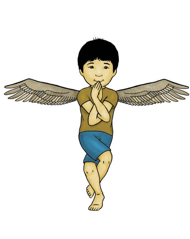 Yoga for children: an eagle
