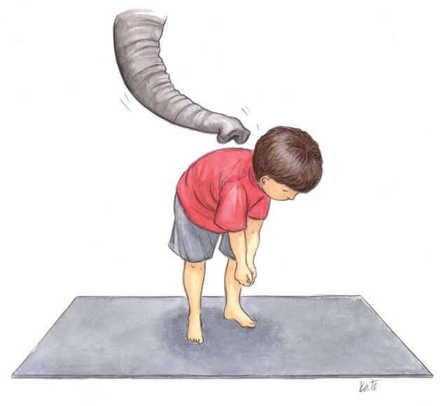 Yoga for children: elephant
