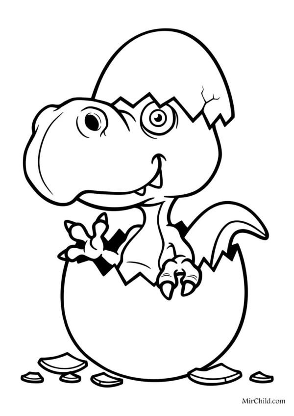 Динозавры: 30 раскрасок для детей А4