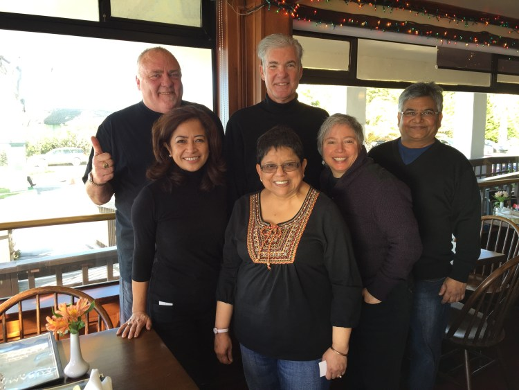 Lunch at Miramar Beach Restaurant with some famous educators!