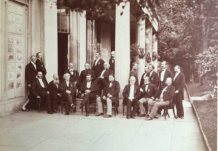 Aztec Club of 1847 anniversary dinner in 1873