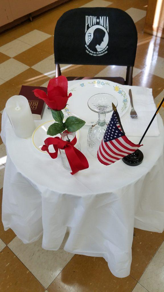 Ukrainian American Veterans (UAV) Missing Man Table