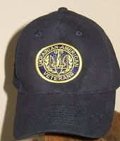 Dark blue baseball cap with Ukrainian American Veterans (UVA) emblem on front