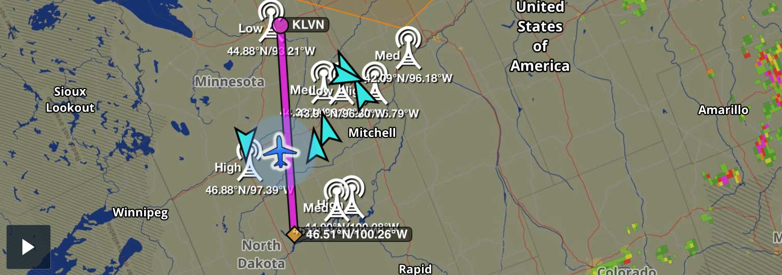 ADS-B Traffic from echoUAT in ForeFlight Mobile