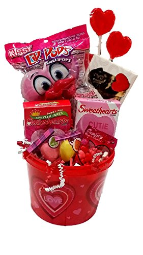 Pucker Up Valentines Day Gift Basket Reusable Bucket Of