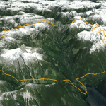 View of proposed Skwawka Horseshoe Traverse from south