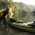 Stuart lands at the head of Princess Louisa Inlet, switching back to Alpine Mode (Photo: S. Rasmussen)