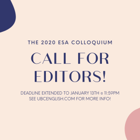 Colloquium 2020: Call for Editors!